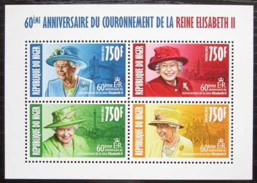 Poštovní známky Niger 2013 Královna Alžbìta II. Mi# 2368-71 Kat 12€