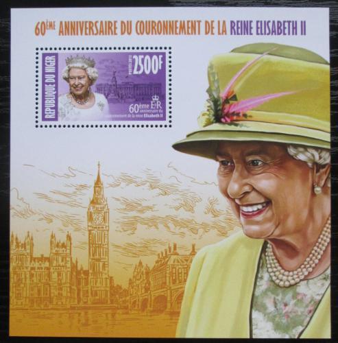 Poštovní známka Niger 2013 Královna Alžbìta II. Mi# Block 214 Kat 10€