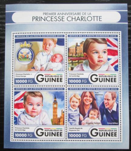 Poštovní známky Guinea 2016 Princezna Charlotte Mi# 12021-24 Kat 16€