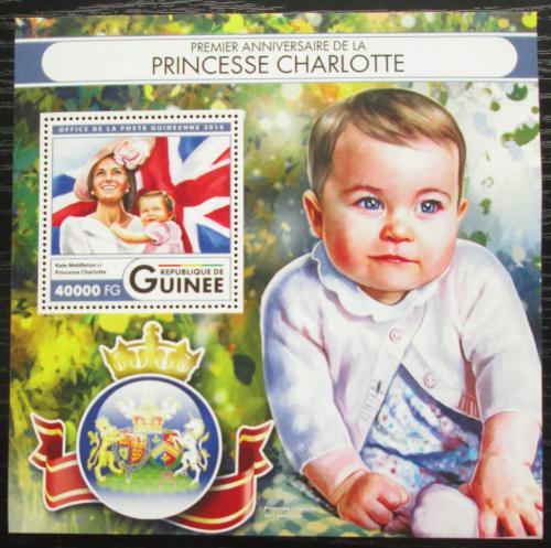 Poštovní známka Guinea 2016 Princezna Charlotte Mi# Block 2700 Kat 16€