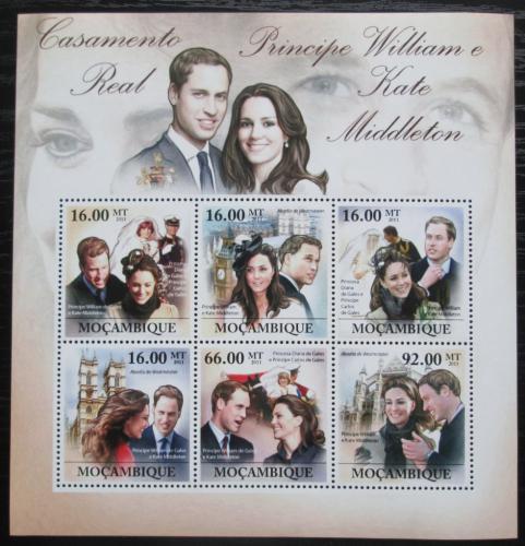 Poštovní známky Mosambik 2011 Princ William a Kate Mi# 4640-45 Kat 12€