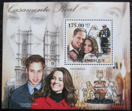 Poštovní známka Mosambik 2011 Princ William a Kate Mi# Block 462 Kat 10€