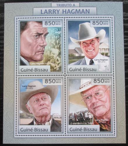 Poštovní známky Guinea-Bissau 2012 Larry Hagman, herec Mi# 6372-75 Kat 14€