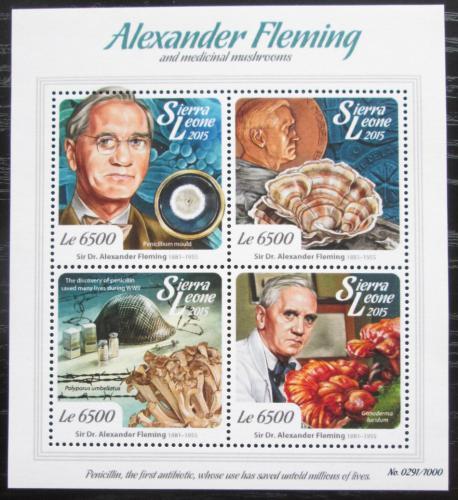 Poštovní známky Sierra Leone 2015 Alexander Fleming Mi# 6788-91 Kat 12€