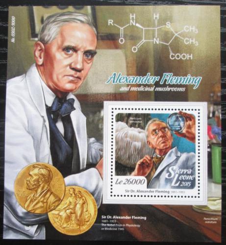 Poštovní známka Sierra Leone 2015 Alexander Fleming Mi# Block 890 Kat 12€