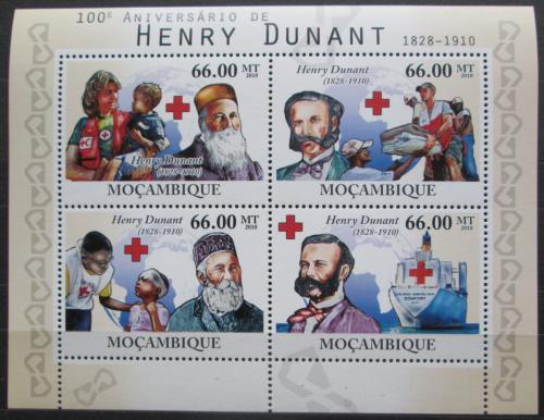 Poštovní známky Mosambik 2010 Henri Dunant Mi# 4205-08 Kat 15€
