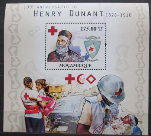 Poštovní známka Mosambik 2010 Henri Dunant Mi# Block 393 Kat 10€