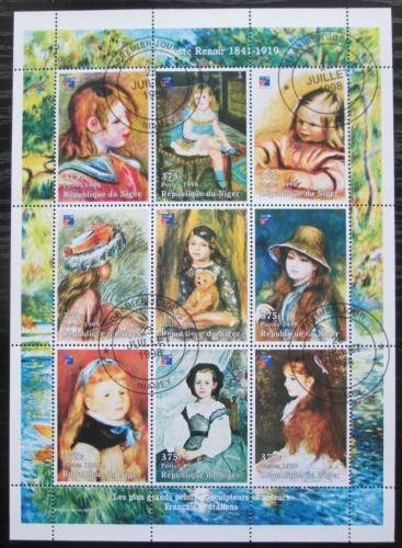 Poštovní známky Niger 1998 Umìní, Pierre Auguste Renoir Mi# Mi# N/N
