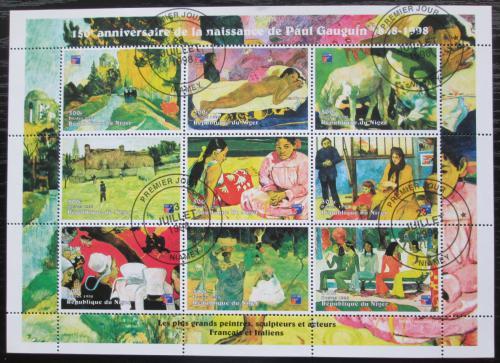 Poštovní známky Niger 1998 Umìní, Paul Gauguin Mi# Mi# N/N