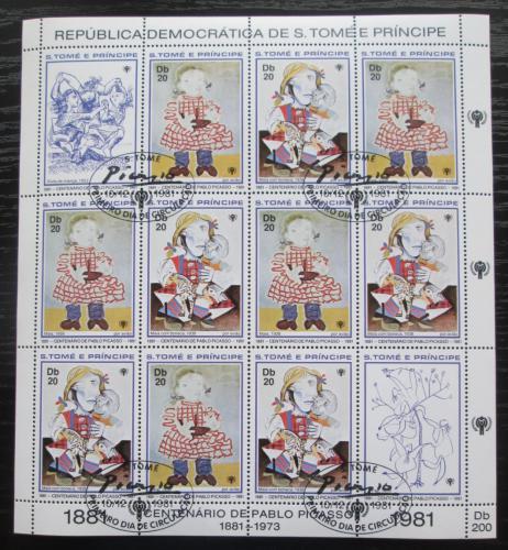 Poštovní známky Svatý Tomáš 1981 Umìní, Picasso Mi# Mi# 719-20 Bogen Kat 48€