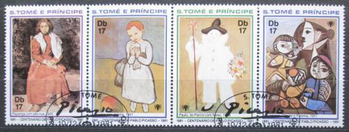 Poštovní známky Svatý Tomáš 1981 Umìní, Picasso Mi# Mi# 715-18 Kat 8€