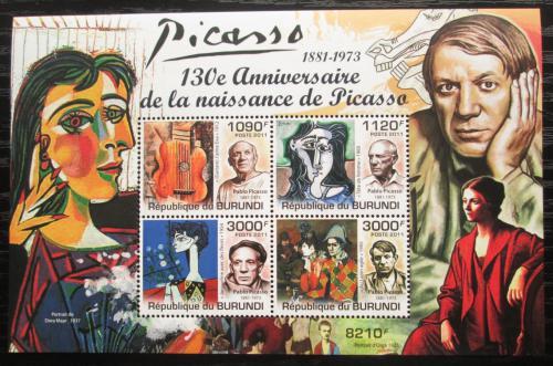 Poštovní známky Burundi 2011 Umìní, Pablo Picasso Mi# Mi# Block 189 Kat 9.50€