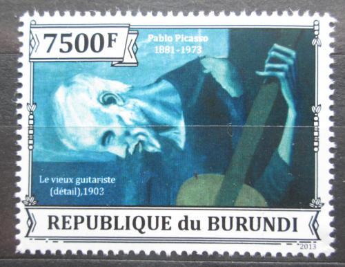 Poštovní známka Burundi 2013 Umìní, Pablo Picasso Mi# Mi# 3317