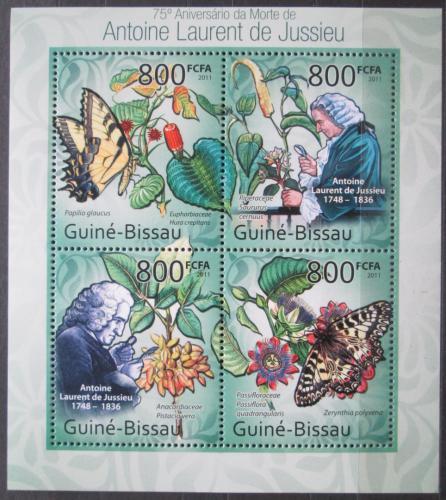 Poštovní známky Guinea-Bissau 2011 Motýli, de Jussieu Mi# 5439-42 Kat 12€