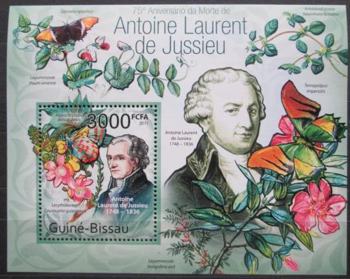 Poštovní známka Guinea-Bissau 2011 Motýli, de Jussieu Mi# Block 936 Kat 12€