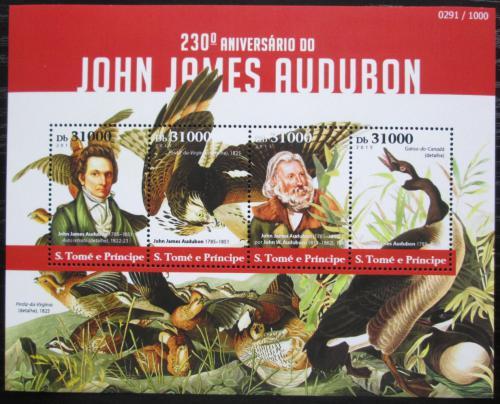 Poštovní známky Svatý Tomáš 2015 Ptáci, Audubon Mi# 6223-26 Kat 12€