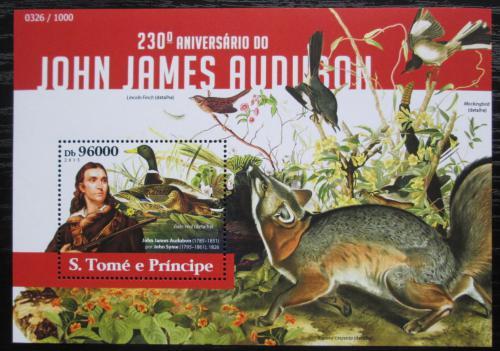Poštovní známka Svatý Tomáš 2015 Ptáci, Audubon Mi# Block 1098 Kat 10€