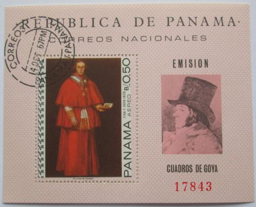 Poštovní známka Panama 1967 Umìní, Francisco Goya Mi# Block 79 Kat 13€