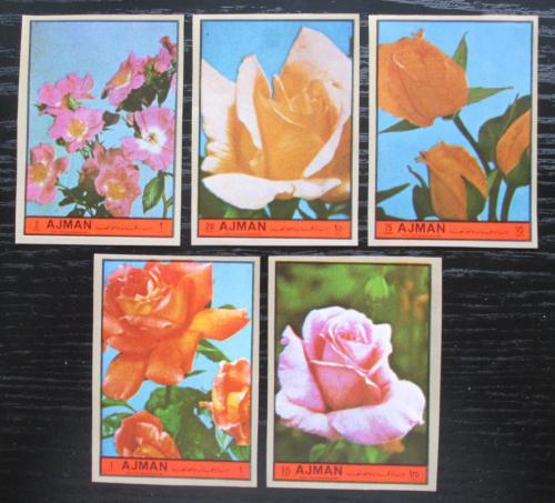 Poštovní známky Adžmán 1972 Rùže neperf. Mi# 2078-82 B Kat 8€