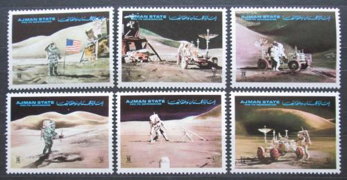 Poštovní známky Adžmán 1972 Prùzkum Mìsíce, Apollo 15 Mi# 1267-72
