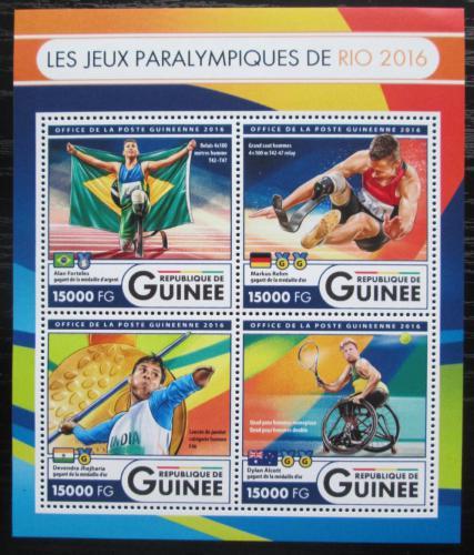 Poštovní známky Guinea 2016 Paralympiáda Rio de Janeiro Mi# 12141-44 Kat 24€