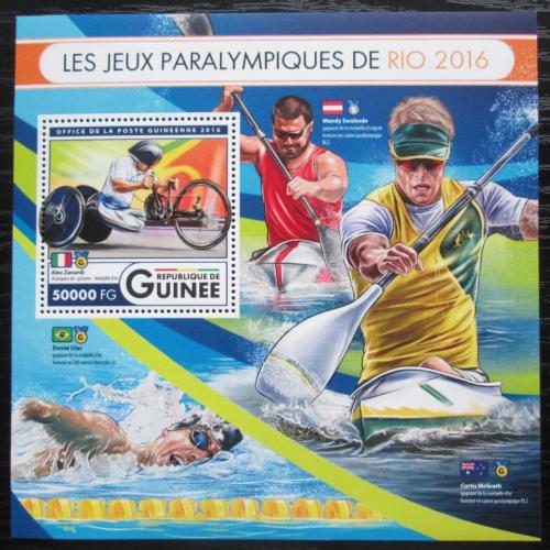 Poštovní známka Guinea 2016 Paralympiáda Rio de Janeiro Mi# Block 2724 Kat 20€
