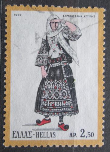 Poštovní známka Øecko 1972 Lidový kroj Mi# 1098
