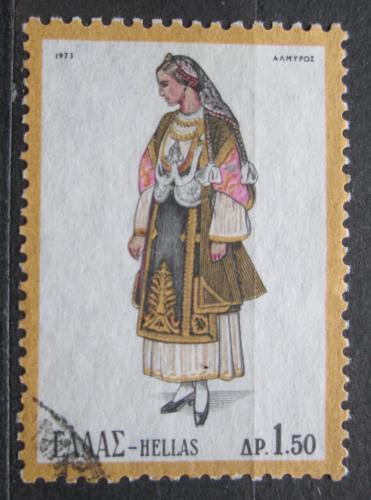 Poštovní známka Øecko 1973 Lidový kroj Mi# 1135