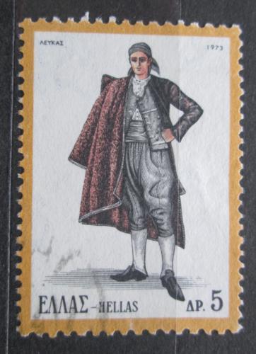Poštovní známka Øecko 1973 Lidový kroj Mi# 1139