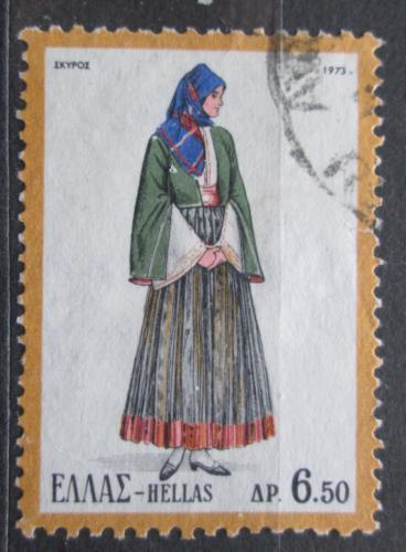 Poštovní známka Øecko 1973 Lidový kroj Mi# 1140