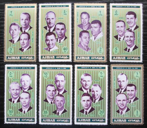 Poštovní známky Adžmán 1971 Mise Apollo, kosmonauti Mi# 982-89