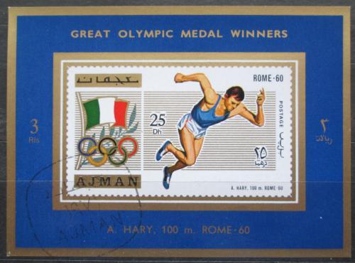 Poštovní známka Adžmán 1971 Armin Hary, LOH Mi# 1210 A Block