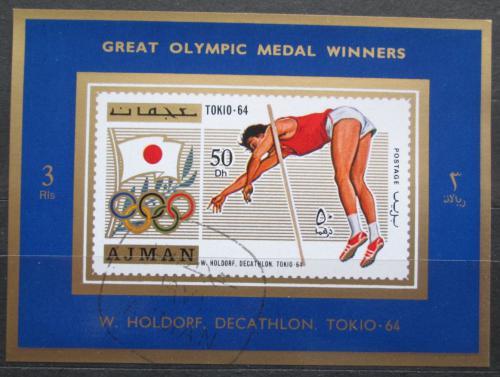 Poštovní známka Adžmán 1971 Willi Holdorf, LOH Mi# 1211 A Block