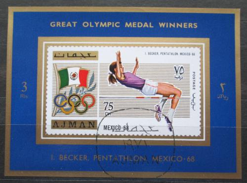 Poštovní známka Adžmán 1971 Ingrid Becker, LOH Mi# 1212 A Block