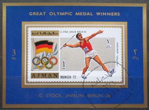 Poštovní známka Adžmán 1971 Gerhard Stöck, LOH Mi# 1213 A Block
