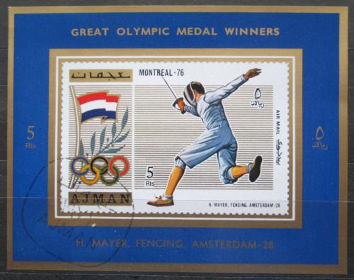 Poštovní známka Adžmán 1971 Helene Mayer, LOH Mi# 1214 A Block