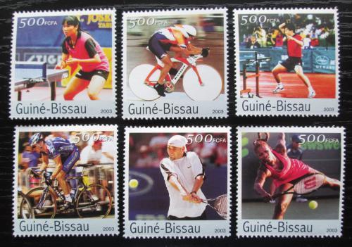 Poštovní známky Guinea-Bissau 2003 LOH Atény Mi# 2517-22 Kat 12€