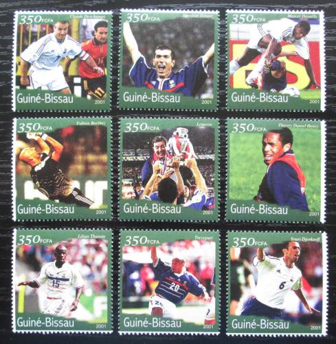 Poštovní známky Guinea-Bissau 2001 MS ve fotbale Mi# 1388-96 Kat 12€