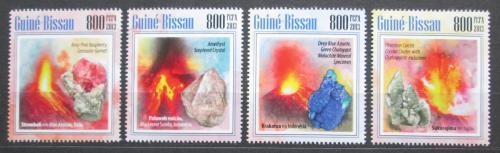 Poštovní známky Guinea-Bissau 2013 Sopky a minerály Mi# 6882-85 Kat 13€