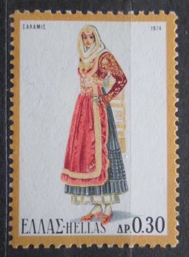 Poštovní známka Øecko 1974 Lidový kroj Mi# 1181