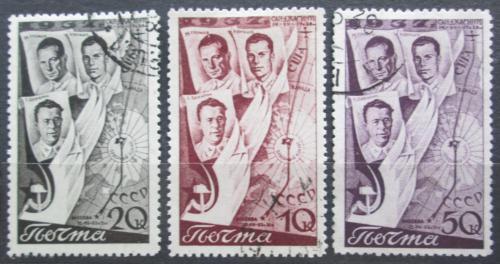Poštovní známky SSSR 1938 Letci Mi# 599-601
