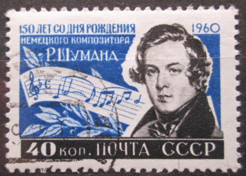 Poštovní známka SSSR 1960 Robert Schumann, skladatel Mi# 2344