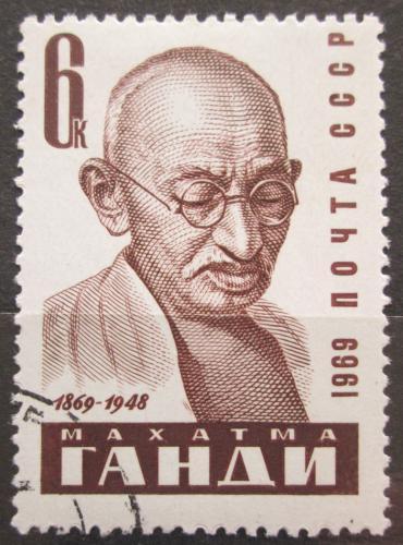 Poštovní známka SSSR 1969 Mahátma Gándhí Mi# 3666