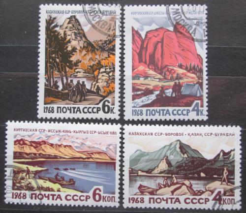 Poštovní známky SSSR 1968 Rekreaèní støediska Mi# 3555-58