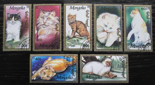 Poštovní známky Mongolsko 1991 Koèky Mi# 2328-34