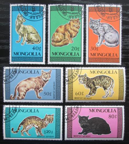 Poštovní známky Mongolsko 1987 Koèky Mi# 1900-06