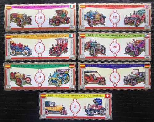 Poštovní známky Rovníková Guinea 1976 Historické automobily Mi# 877-83