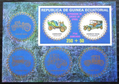 Poštovní známka Rovníková Guinea 1976 Historické automobily Mi# Block 229 Kat 7.50€