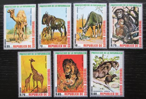 Poštovní známky Rovníková Guinea 1974 Africká fauna Mi# 475-81