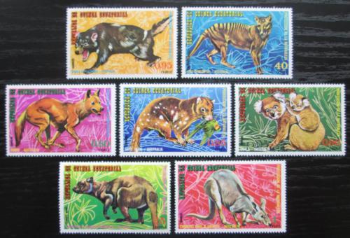 Poštovní známky Rovníková Guinea 1974 Australská fauna Mi# 467-73